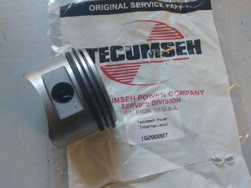 Tecumseh 16090007 Piston and ring assy fits most common engines with 63.5mm bore